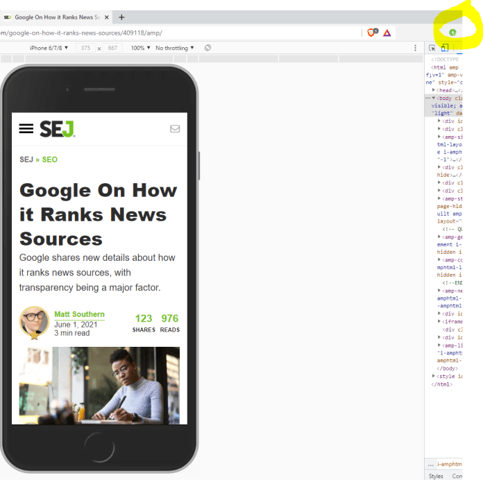 AMP Browser extension.