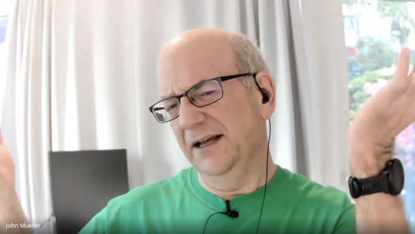 Google's John Mueller shakes head to illustrate response of someone to poor quality content
