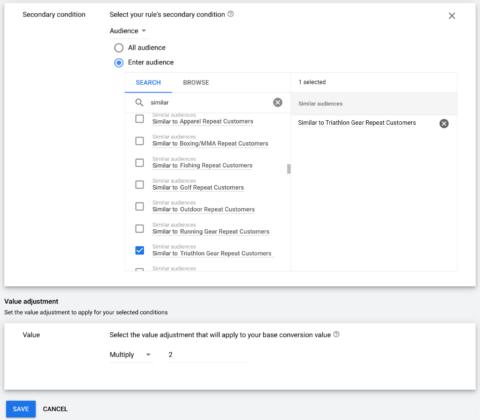 Google Conversion Value Rules