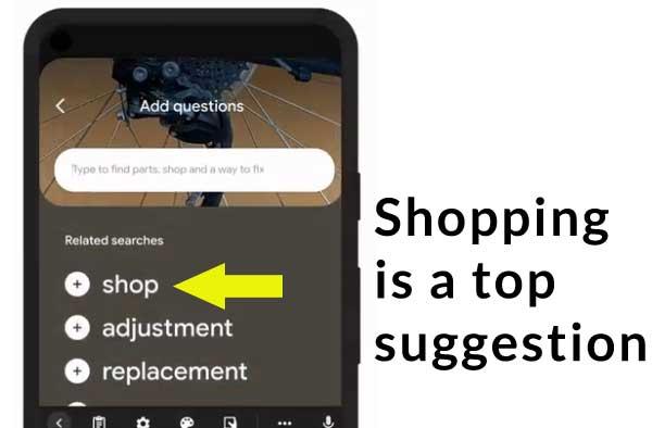 MUM Lens Prioritizes Shopping