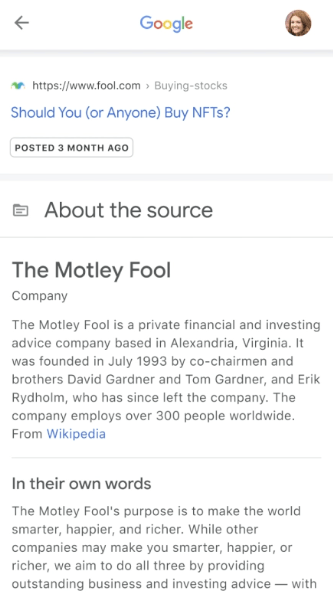 Google Helps You Validate Sources Directly in Search Results