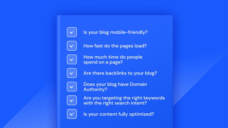 seo checklist blogs