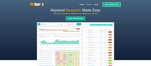 Keysearch uncommon keyword research tool.