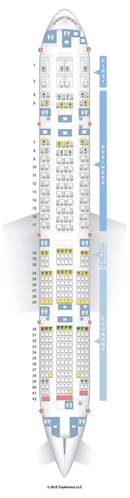 SeatGuru Seat Map ANA Boeing 777-300ER (77W) V4