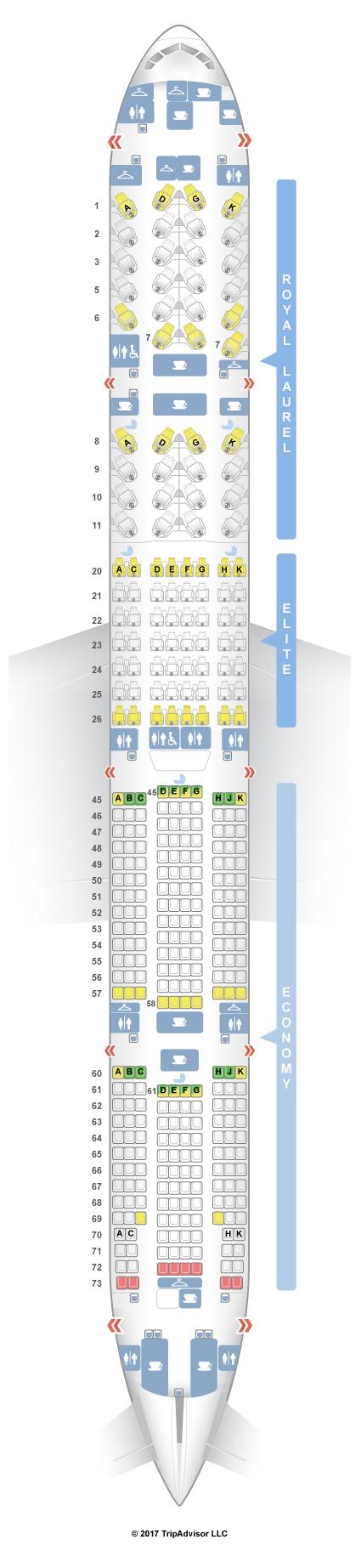 SeatGuru Seat Map EVA Air Boeing 777-300ER (77B) V4