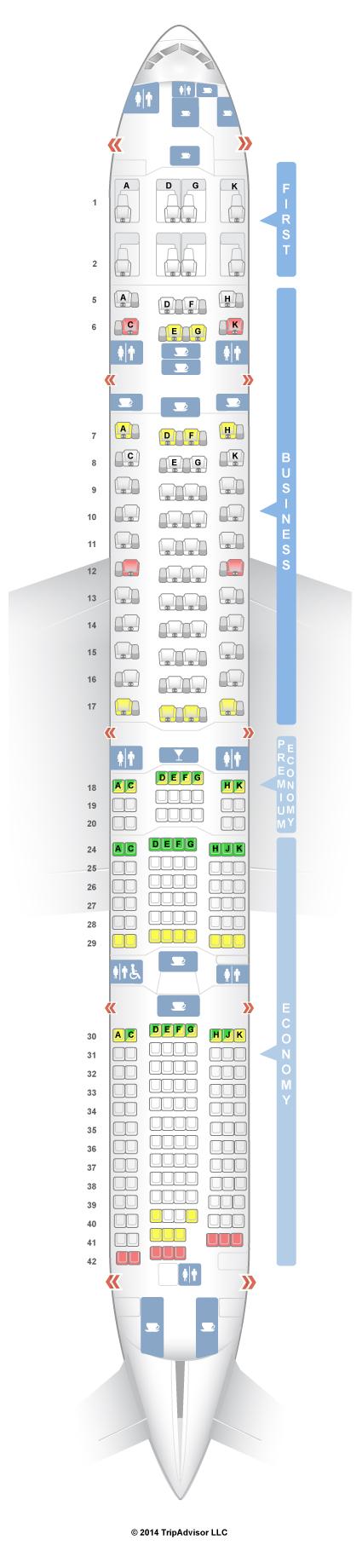 SeatGuru Seat Map ANA Boeing 777-300ER (77W) V1
