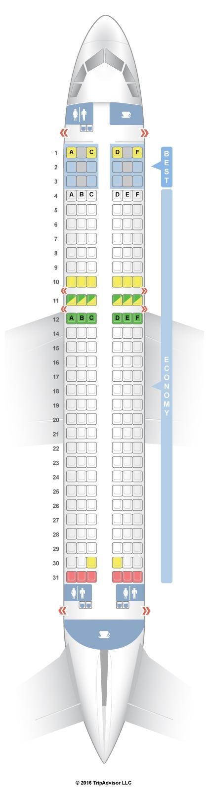 SeatGuru Seat Map Eurowings Airbus A320 (320)