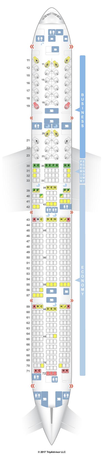 Seatguru Seat Map Cathay Pacific Boeing 777 300er 77g Three Class
