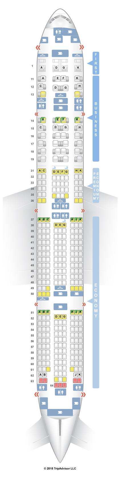 Boeing 777 300er Seat Guru Air France Wallseat Co
