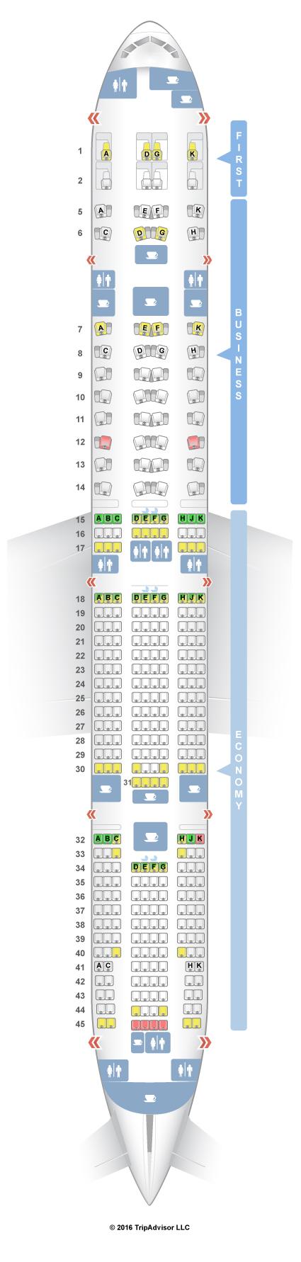 boeing 777 300er seat guru air france. Black Bedroom Furniture Sets. Home Design Ideas