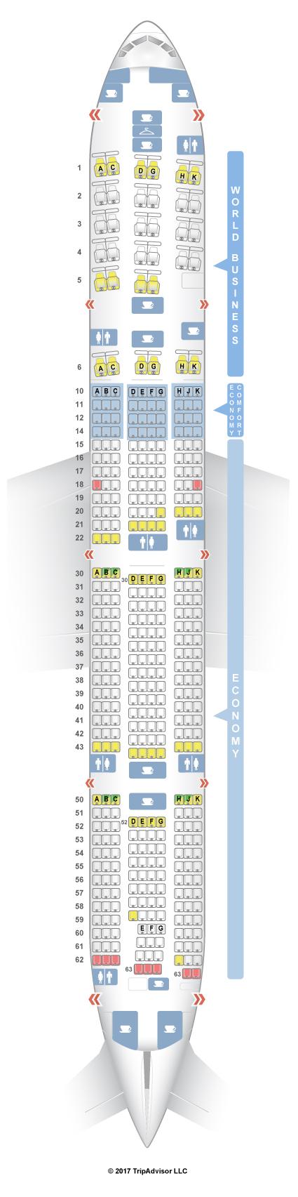 SeatGuru Seat Map KLM Boeing 777-300ER (77W)