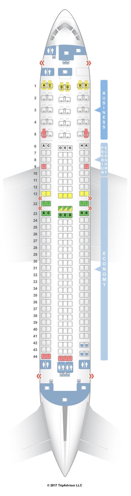 Boeing 767 300 Seat Map Icelandair Wallseat Co