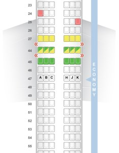 Seat  class type power video review also seatguru map el al boeing rh