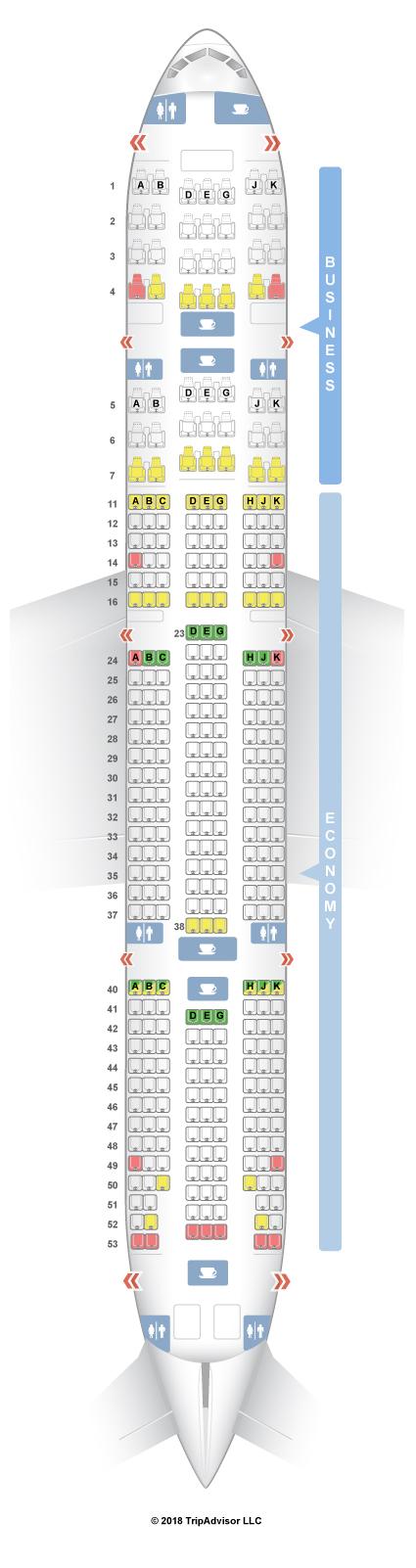 SeatGuru Seat Map Turkish Airlines Boeing 777-300ER (77W) V2