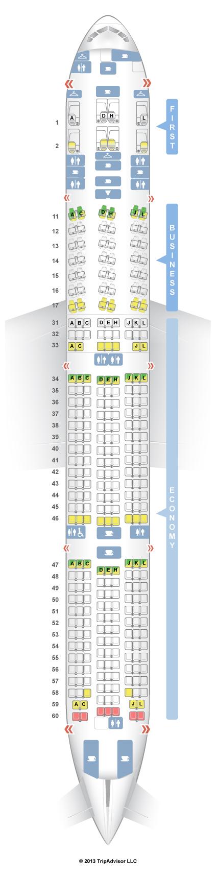 SeatGuru Seat Map Air China Boeing 777-300ER (77W)