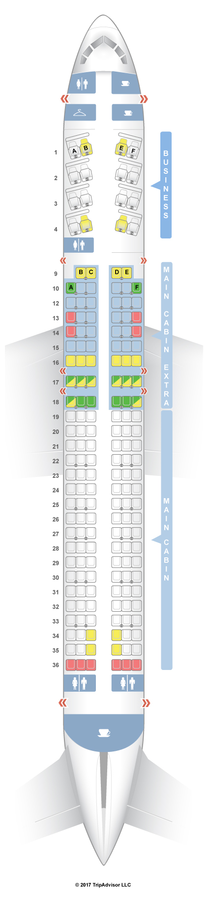 American Airlines 757 200 Seating Chart