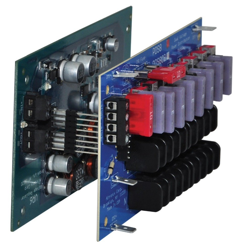 medium resolution of altronix vr6 voltage regulator and pds8 dual input power distribution module