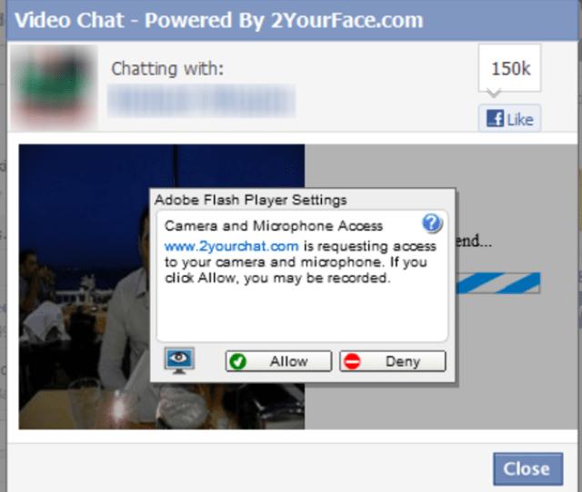 Screenshots Of Facebook Video Chat