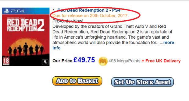 data di rilascio Red Dead Redemption 2, Trapelata la data di rilascio per Red Dead Redemption 2 ?