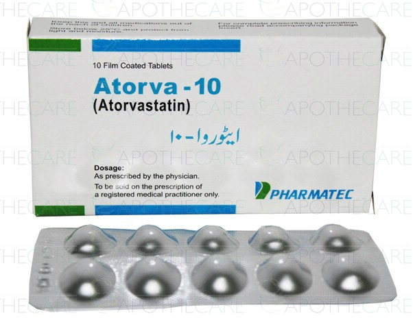 How moch is a moth supply of atorvastatin, 20 mg