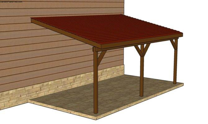Attached Carport Plans Lean Shed Home Plans Blueprints 16823