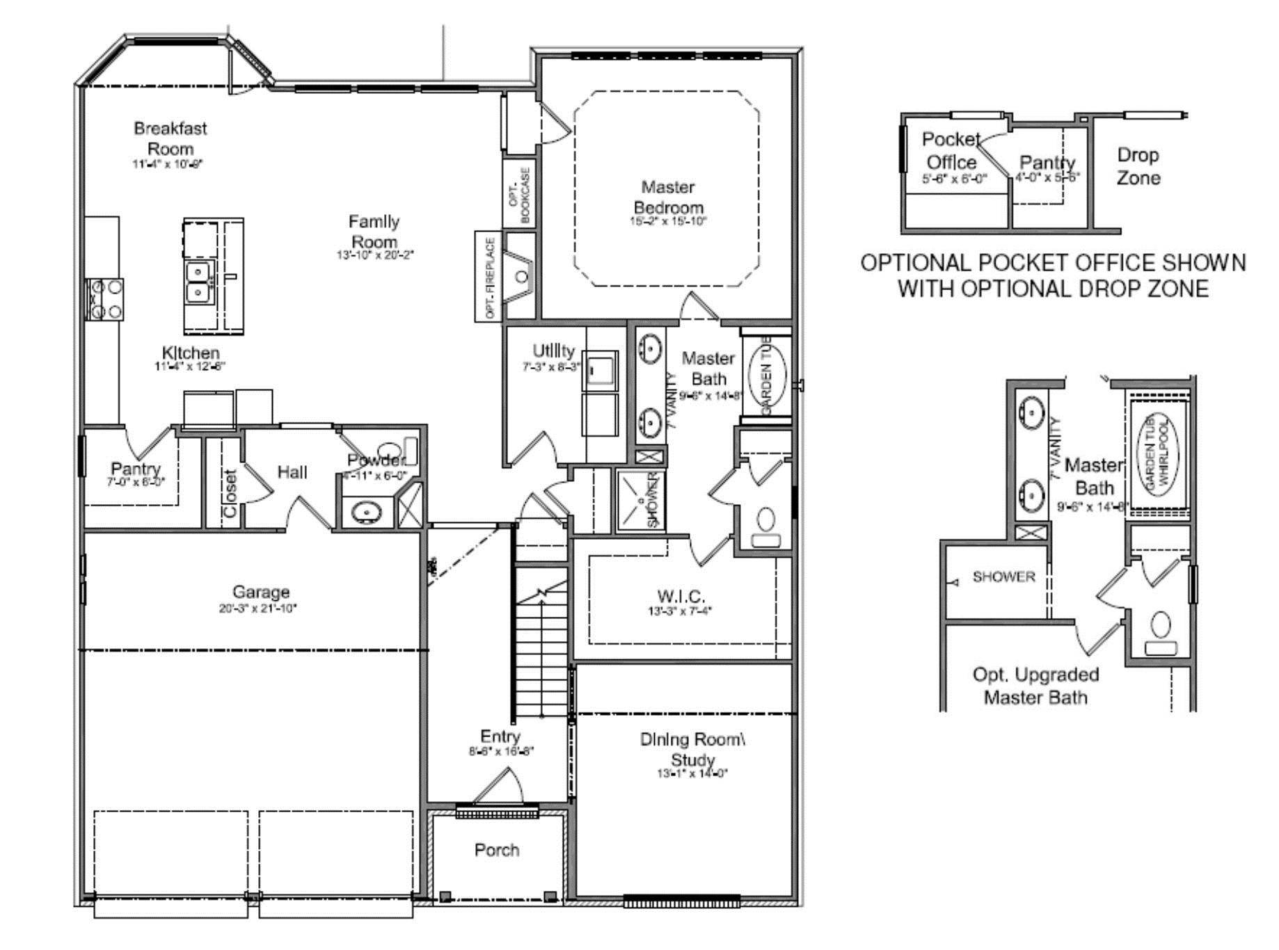 Walk in closet and bathroom floor plans roselawnlutheran Master bedroom plans with bath