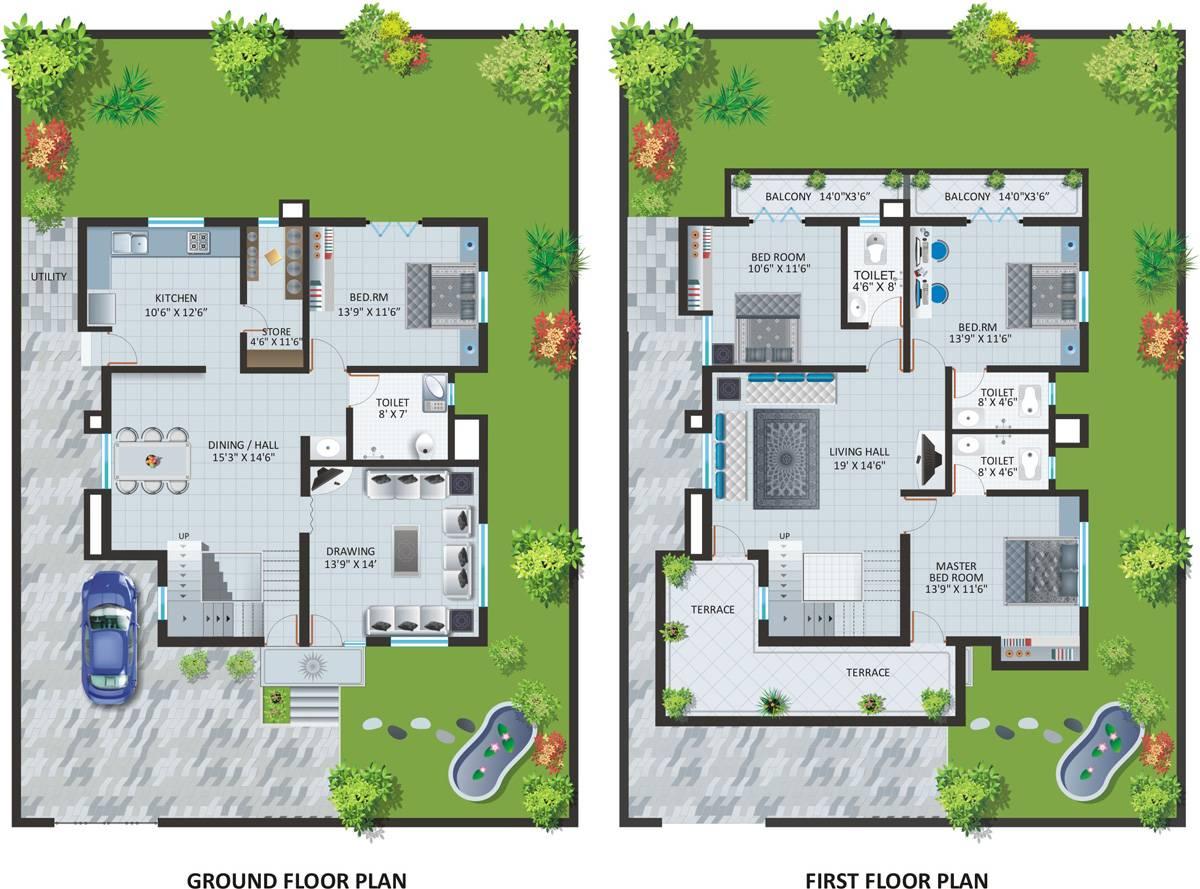 Bungalow House Design Floor Plan Bungalows Plans Designs Home Plans Blueprints 51363