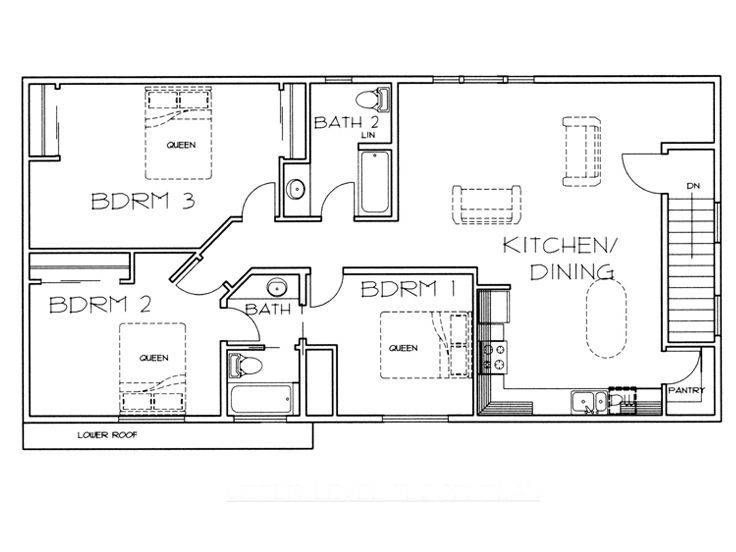Floor Plan Garage Apartment Dream Home Pinterest Home Plans Blueprints 45275