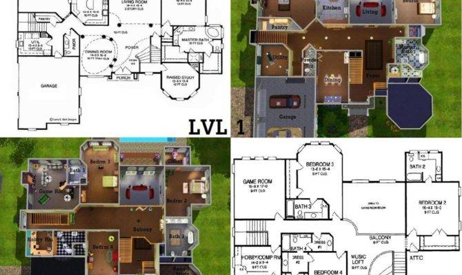 Sims 3 4 Bedroom House Plan Bedroom Home Plans Ideas Picture