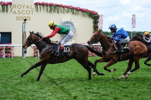 Andrew Kirby riding Nando Parrado (GBR). Photo: Ascot Racecourse