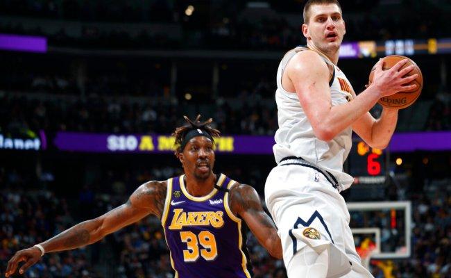 James Triple Double Davis Lead Lakers Past Nuggets 120