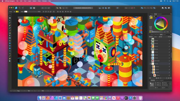 Affinity Designer running on macOS Big Sur