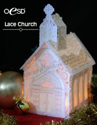 OESD Free-Standing Lace Church (Collection #61038)