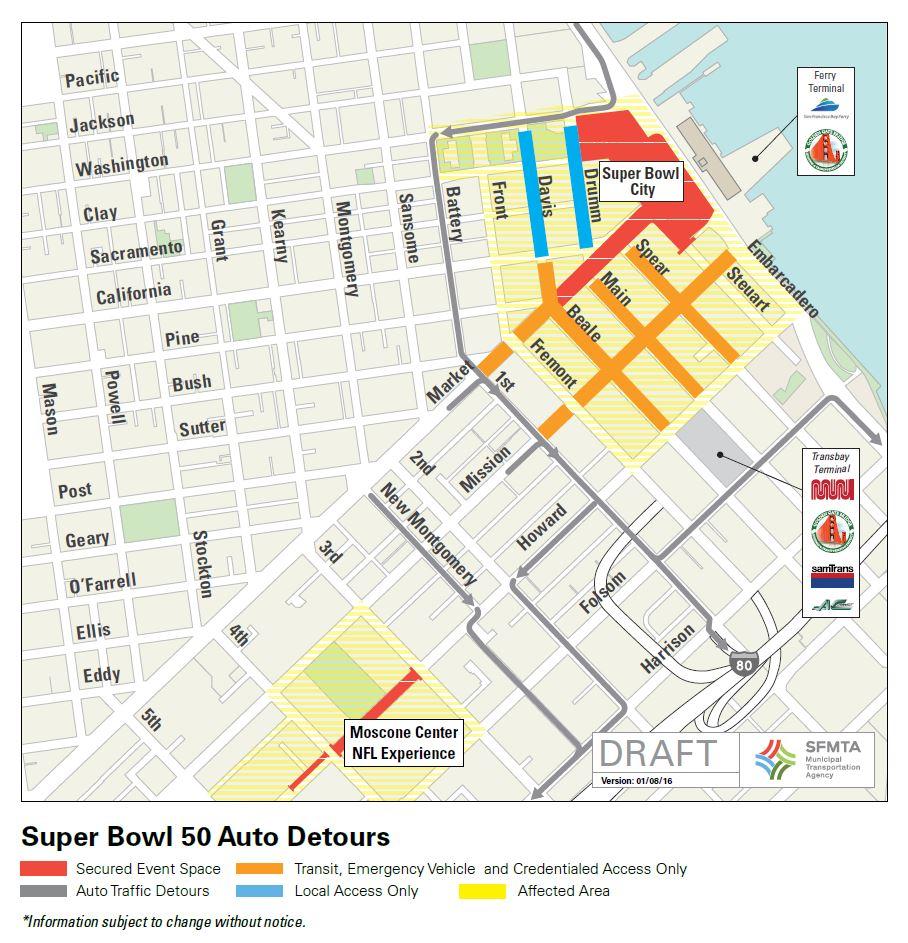 SB50 Traffic Detours 1.8.16