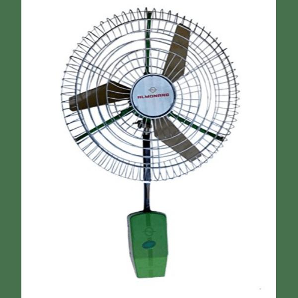 almonard 24 inch 180 w 3 blade air circulator green wall mounted fan