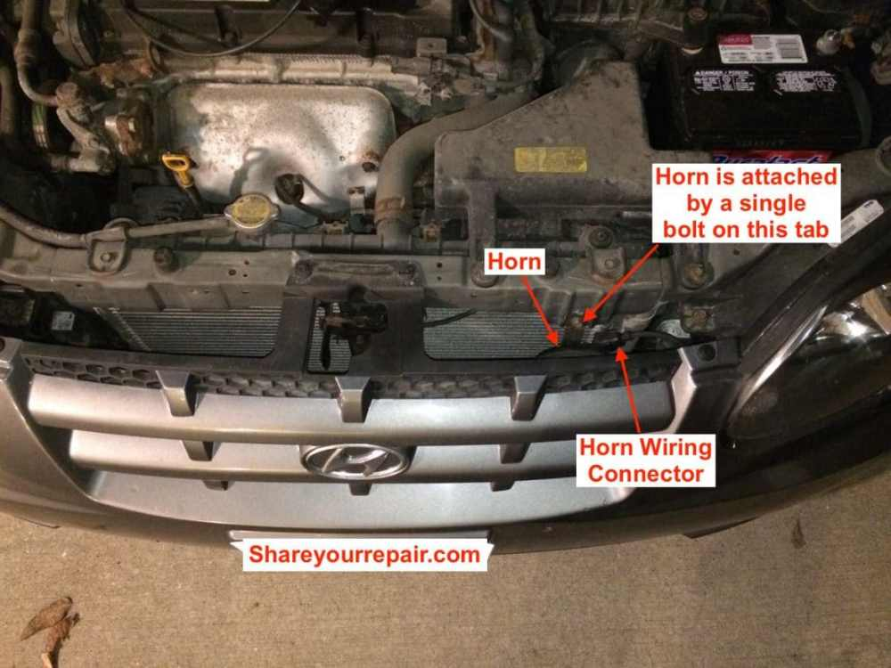 medium resolution of hyundai accent horn location