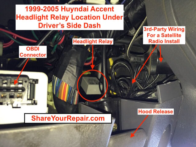wiring diagram for an electric fuel pump and relay 2008 nissan altima alternator hyundai accent headlights will not come on - share your repair