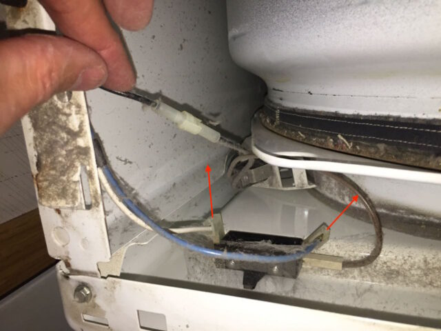 The Electrical Connection And Remove It From The Sensor Red Arrow