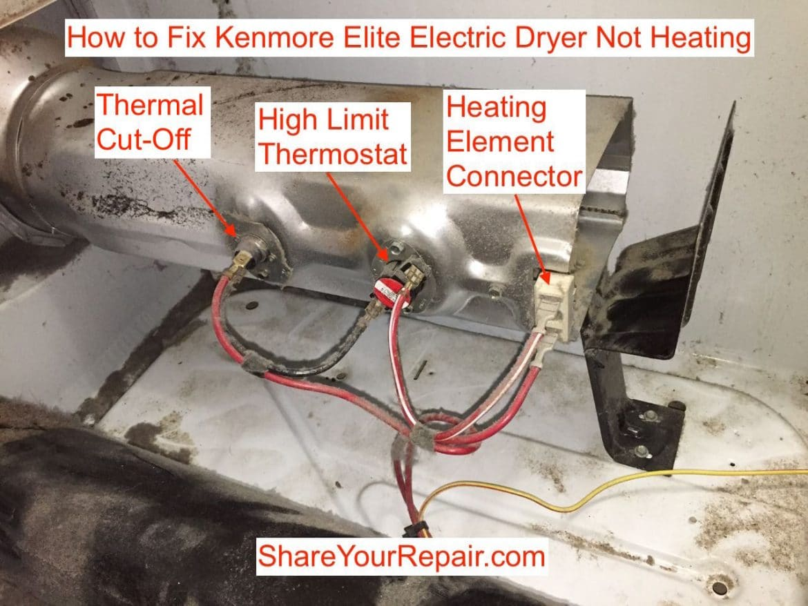 kenmore dryer operating thermostat sample visio network diagram elite heater assembly components share