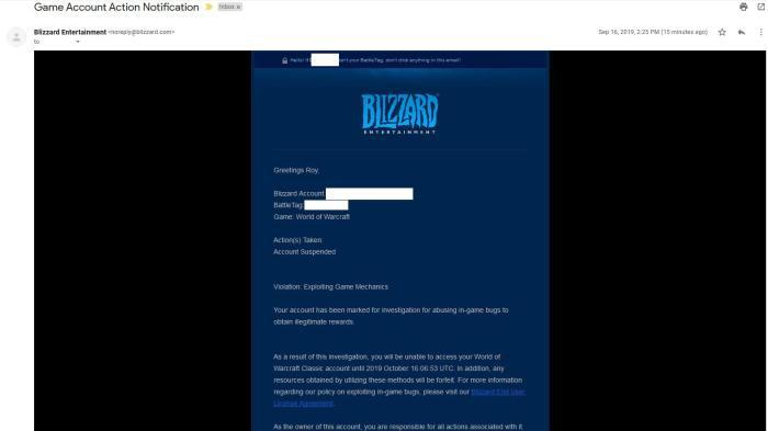 Blizzard начала банить игроков WoW Classic за эксплоит с инстансовыми боссами