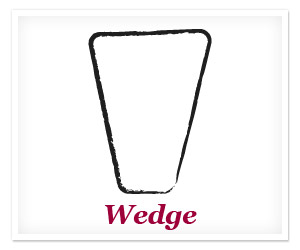 Wedge or inverted triangle body shape