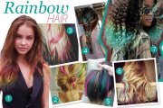 rainbow hair vivid tints