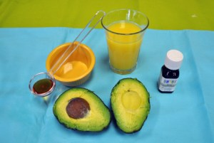 DIY Avocado orange mask