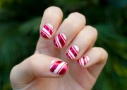 create candy cane nail