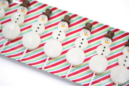 Snowman jello shot pops