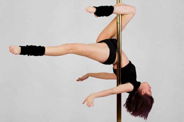 Pole dancing mom
