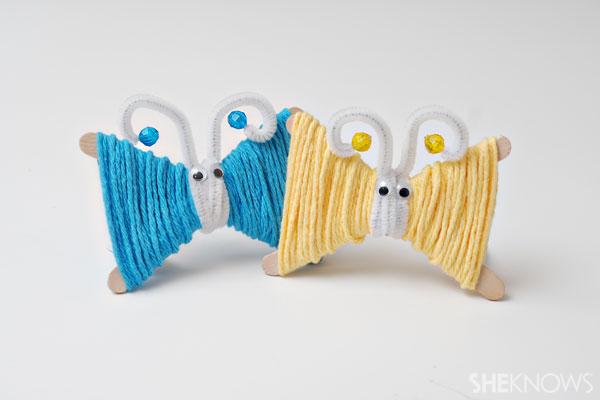 Yarn butterfly craft
