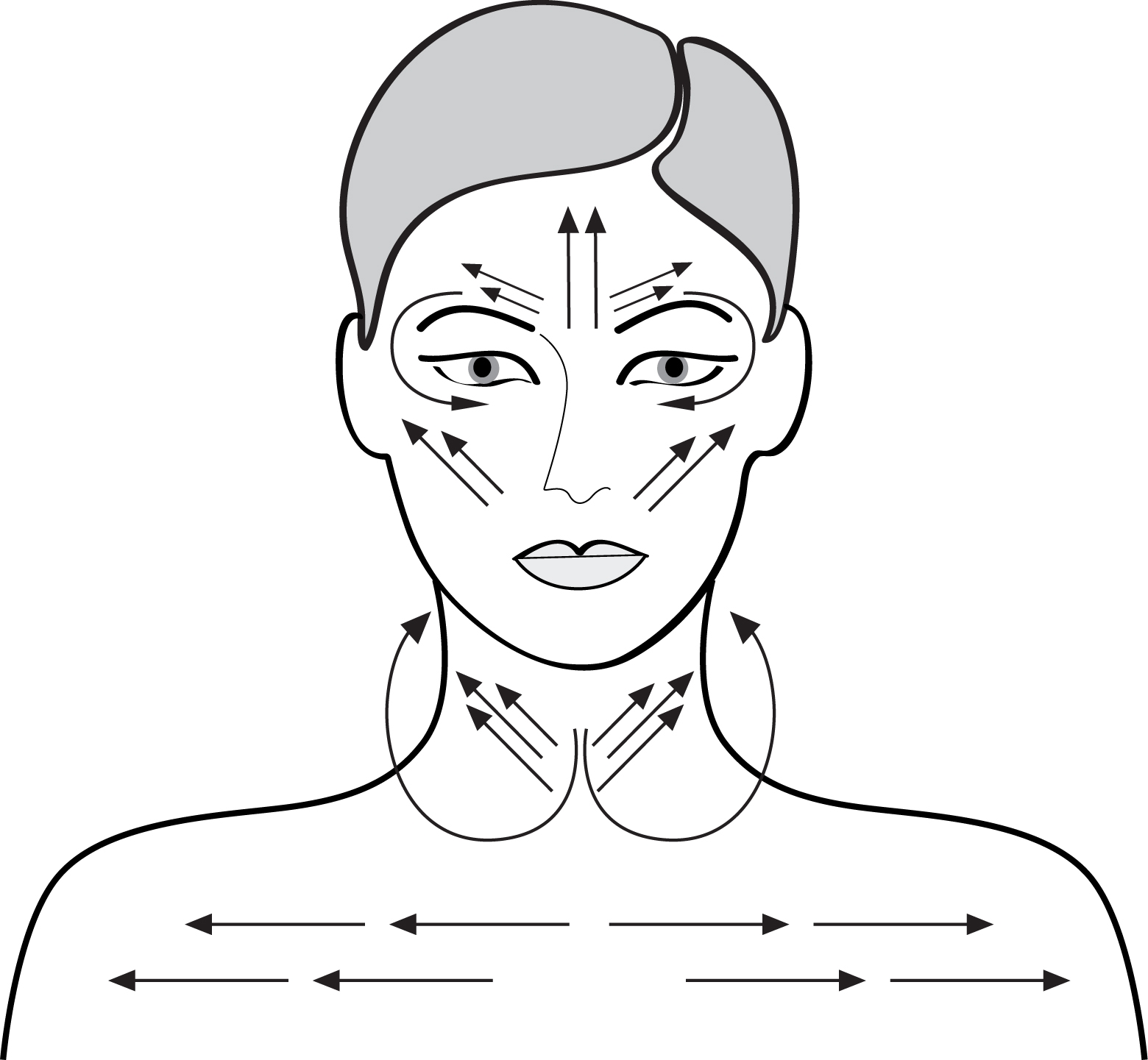 hight resolution of migraine pressure point diagram