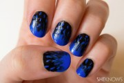 fashion-inspired nail design black