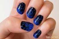 The gallery for --> Nail Art Designs Black And Blue